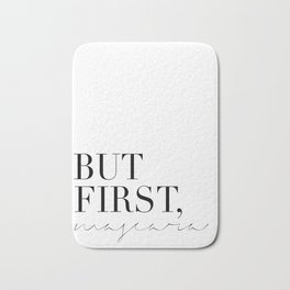 BUT FIRST COFFEE,Coffee Wall Decor,Coffee Sign,Inspirational Quote,Hand Lettering,Scandinavian Desig Bath Mat