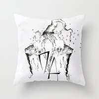 army Throw Pillows featuring Dumbledore's Army by Jena Sinclair
