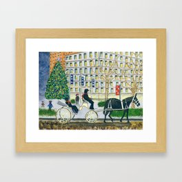 Carriage Ride on Woodward Avenue Framed Art Print