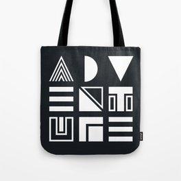 Adventure Shapes B&W Tote Bag