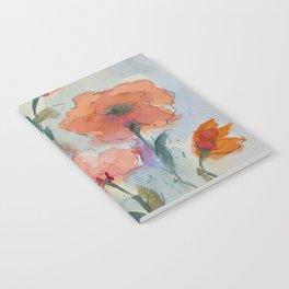 Flowers in watercolor Notebook