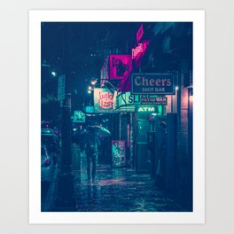 6th Street during Hurricane Harvey Art Print