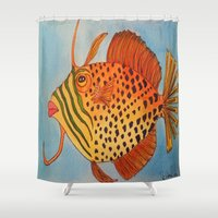 jay z Shower Curtains featuring Jay Z by Caribbean Critters Co.