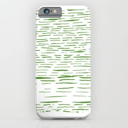 Grass Green Ink Lines iPhone Case