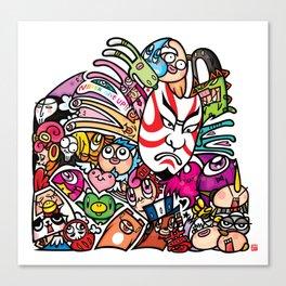 歌舞伎 - JAPANESE KABUKI Canvas Print