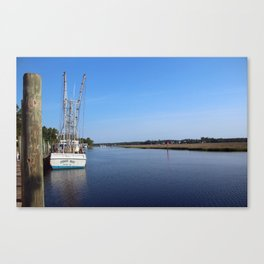 Quiet Morning At The Dock Canvas Print