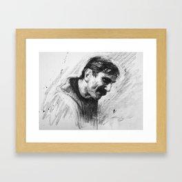 Oil Man Framed Art Print