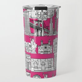 New York pink Travel Mug