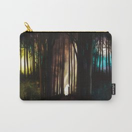 White unicorn in a forest Carry-All Pouch
