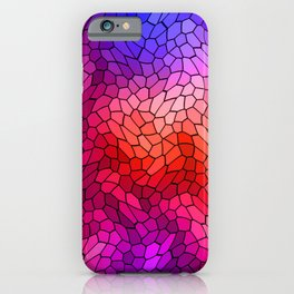 Volumetric texture of pieces of blue glass with a light mysterious mosaic. iPhone Case