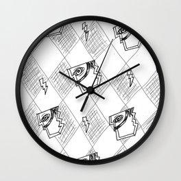 Two Way Mirror Wall Clock