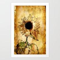 Sunflower Art Art Print
