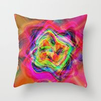 "tequila Throw Pillows featuring "" Tequila ""  by shiva camille"