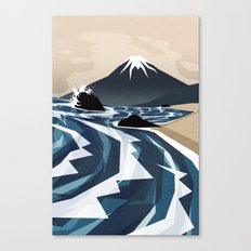 Breaking the waves Canvas Print