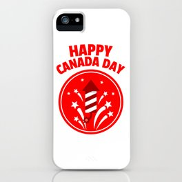Happy Canada Day Fireworks  iPhone Case