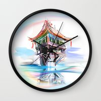 vietnam Wall Clocks featuring Vietnam by tatiana-teni