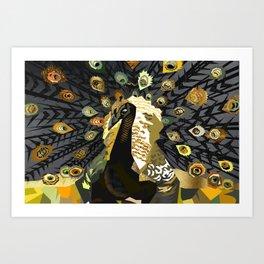Peacock printable art,Peacock wall art,Geometric Peacock,Peacock Poster,Birds Wall Art,Bird poster Art Print