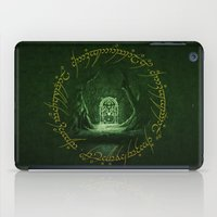 gondor iPad Cases featuring Lord Of The Ring - Durin Gate by alifart