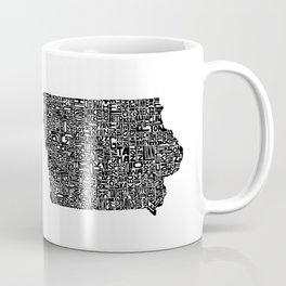 Typographic Iowa Coffee Mug
