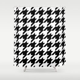 Classic Houndstooth Pattern Shower Curtain