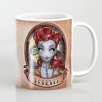 pinup Mugs featuring FOREVER pinup by Tim Shumate