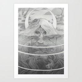 Pisces New Moon Art Print