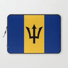 Flag of Barbados Trident of Neptune Laptop Sleeve