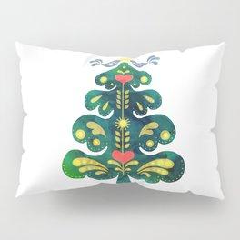 Traditional Scandinavian Folk Art Tree Pillow Sham