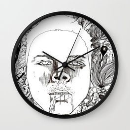 Garden Variety Pestilence (Self Portrait) Wall Clock