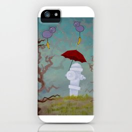 Forest Hydrant with Floating Pigs iPhone Case