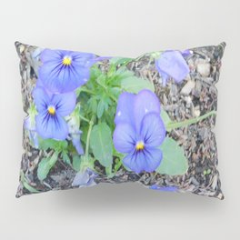 blue Pansy Pillow Sham