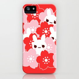 Sakura Bunny iPhone Case