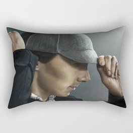 Sherlock and his deerstalker Rectangular Pillow