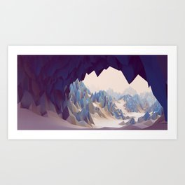 The Mountain Cave Art Print