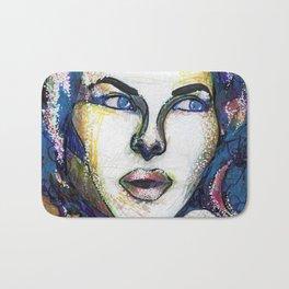 Pop Art Woman Bath Mat