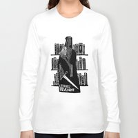 library Long Sleeve T-shirts featuring Library Revenant by Sam Mameli