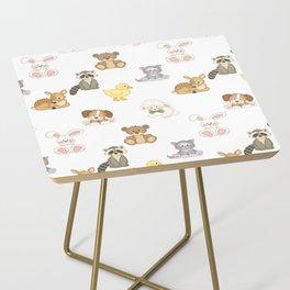 Cute Woodland Farm Baby Animals Nursery Side Table
