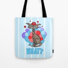 Cool Cat in a Red Hat Tote Bag