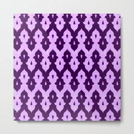 Mauresque Counterchange (Lilac) Metal Print