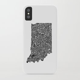 Typographic Indiana iPhone Case