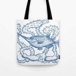 Joli poisson bleu Tote Bag