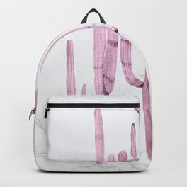Cactus Trio Marble Purple Watercolor by Nature Magick Backpack