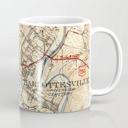 Vintage Map of Charlottesville Virginia (1949) Coffee Mug