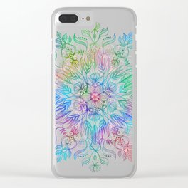 Nature Mandala in Rainbow Hues Clear iPhone Case