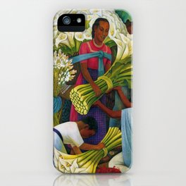 Classical Masterpiece 'The Flower Vendor' by Diego Rivera iPhone Case