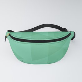 Light lime triangles in intersection and overlay. Fanny Pack