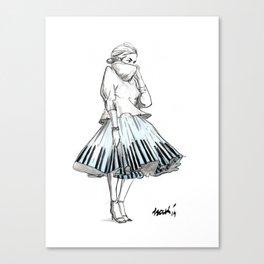 midi skirts Canvas Print