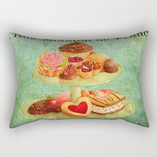 Sweets Vintage Poster 04 Rectangular Pillow