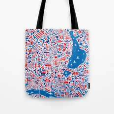 Hamburg City Map Poster Tote Bag