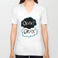 okay V-neck T-shirts featuring Okay? Okay.  by Tangerine-Tane